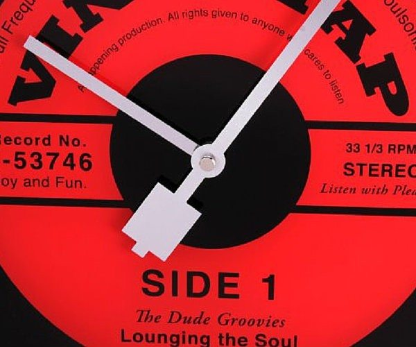 Abbott Collection Glass Vinyl Tap Wall Clock