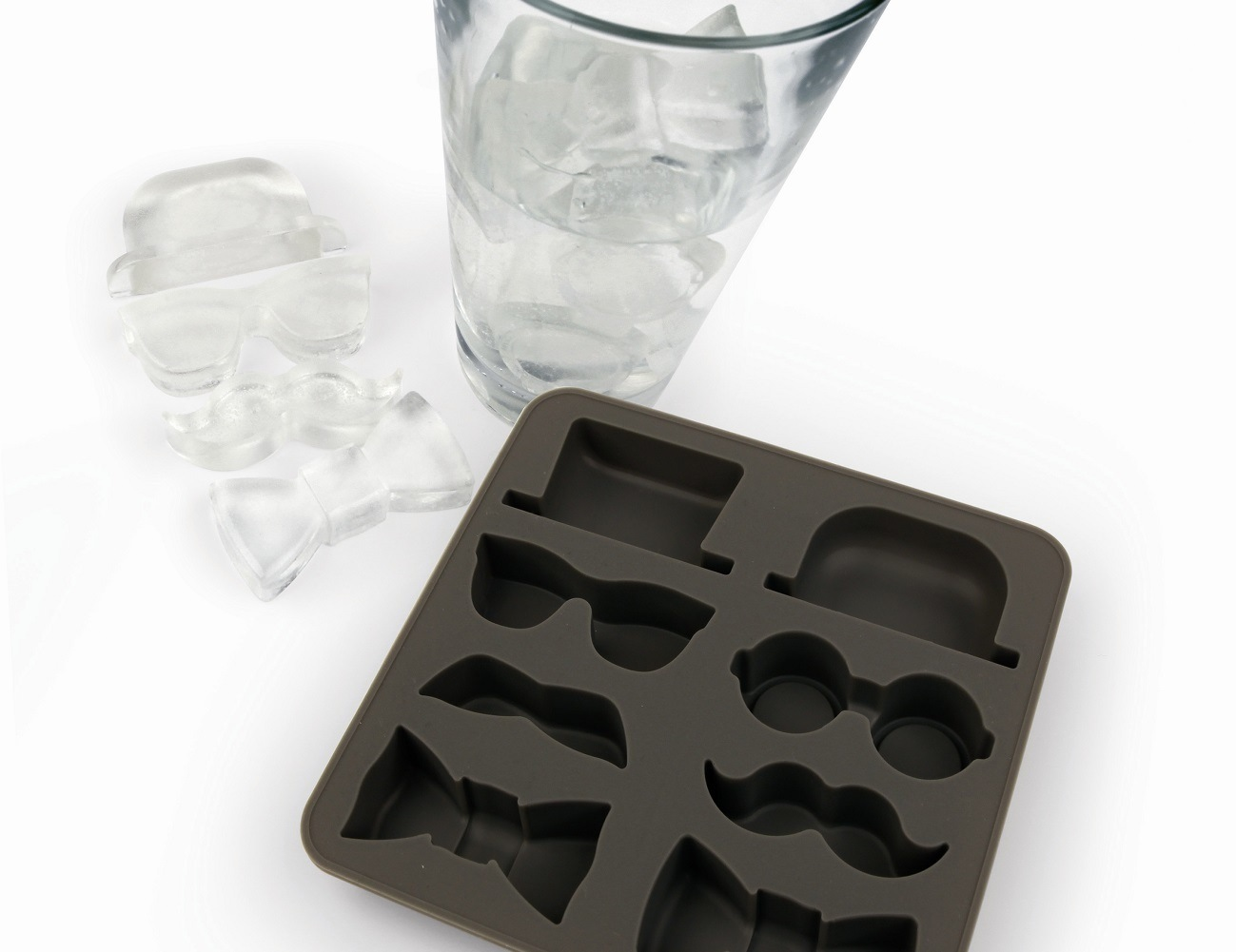Kikkerland Gentleman's Silicone Ice Cube Tray