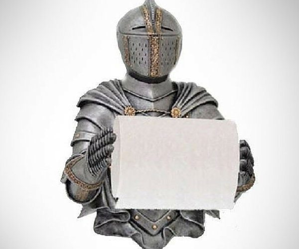 Design Toscano CL5768 A Knight to Remember Gothic Bath Tissue Holder loading=