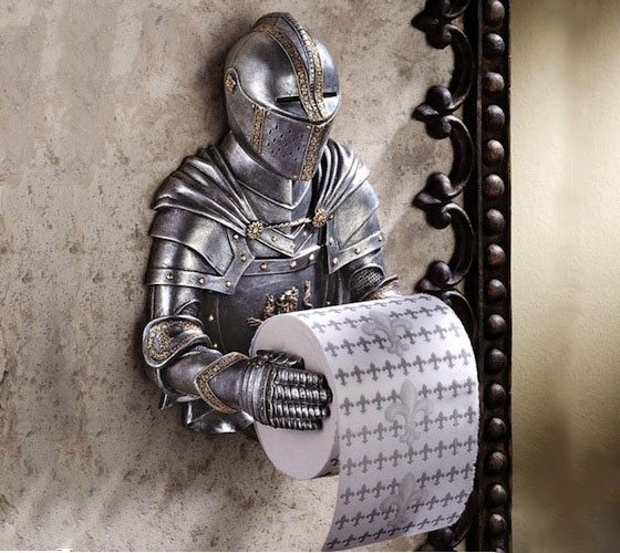 Design Toscano CL5768 A Knight to Remember Gothic Bath Tissue Holder