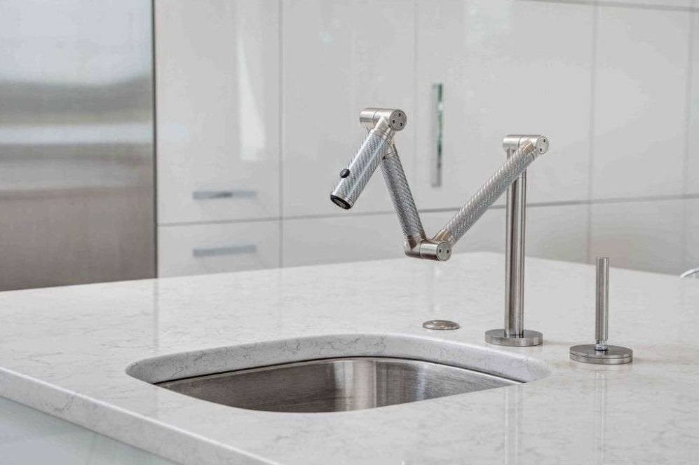 articulating deck mount kitchen faucet kohler parts store faucets pull down spray list