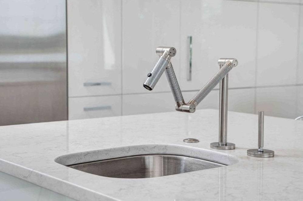 Kohler Karbon Articulating Deck Mount Kitchen Faucet