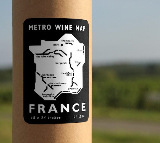 Metro Wine Map of France
