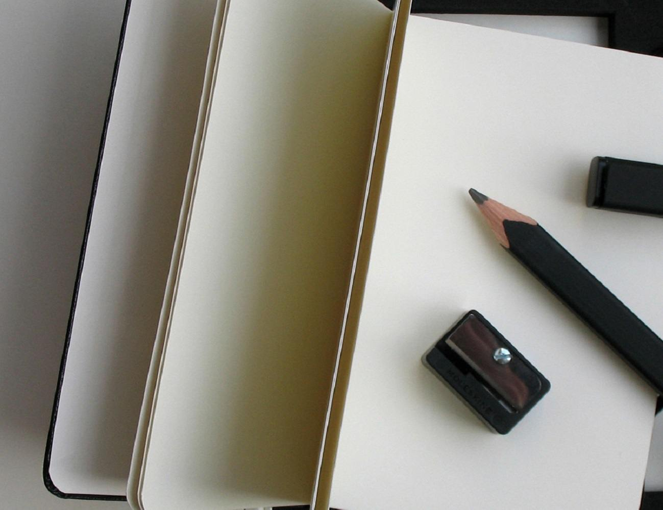 Moleskine Set of 2 Black Pencils and Sharpener