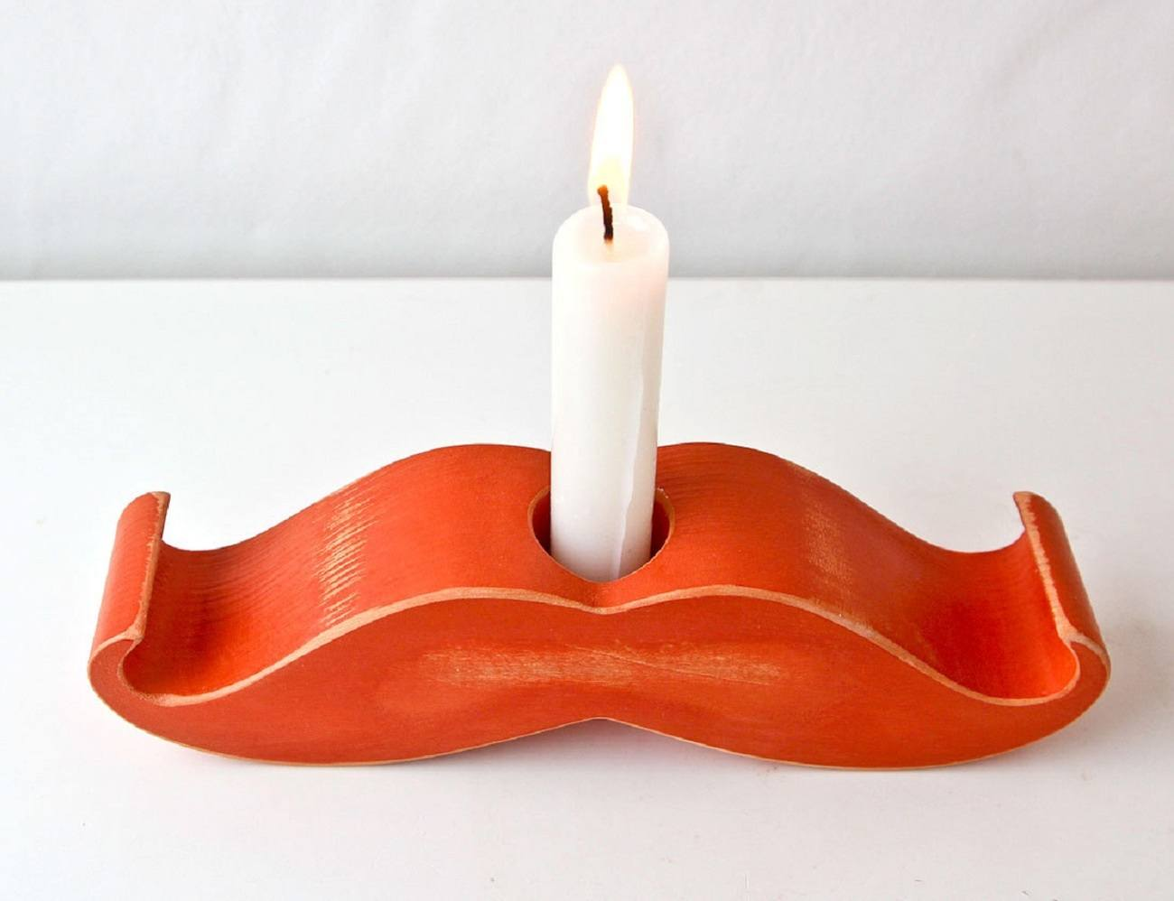Moustache Candle Holder