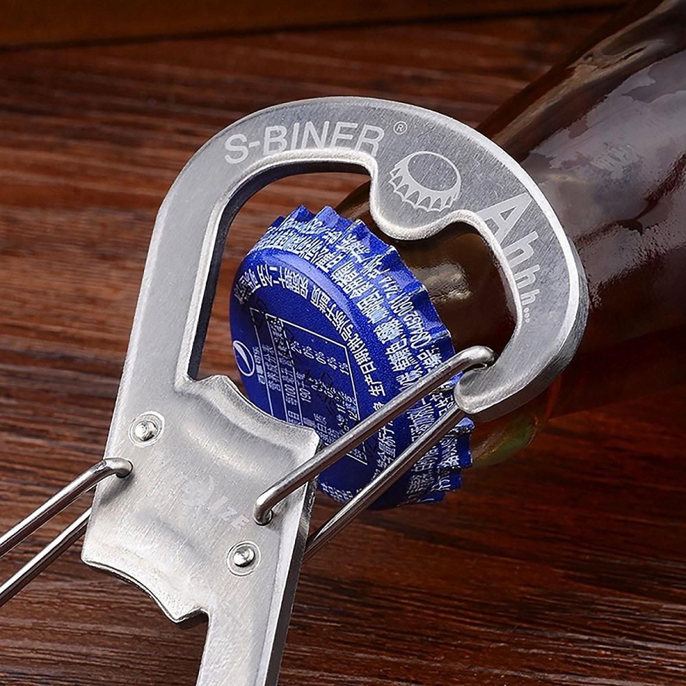 Nite Ize SBO-03-11 S-Biner Ahhh Carabiner Clip Bottle Opener