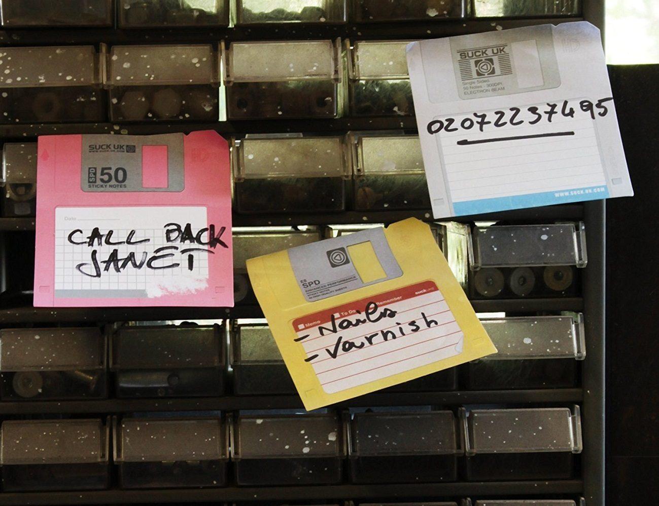 SUCK UK Floppy Disk Sticky Notes