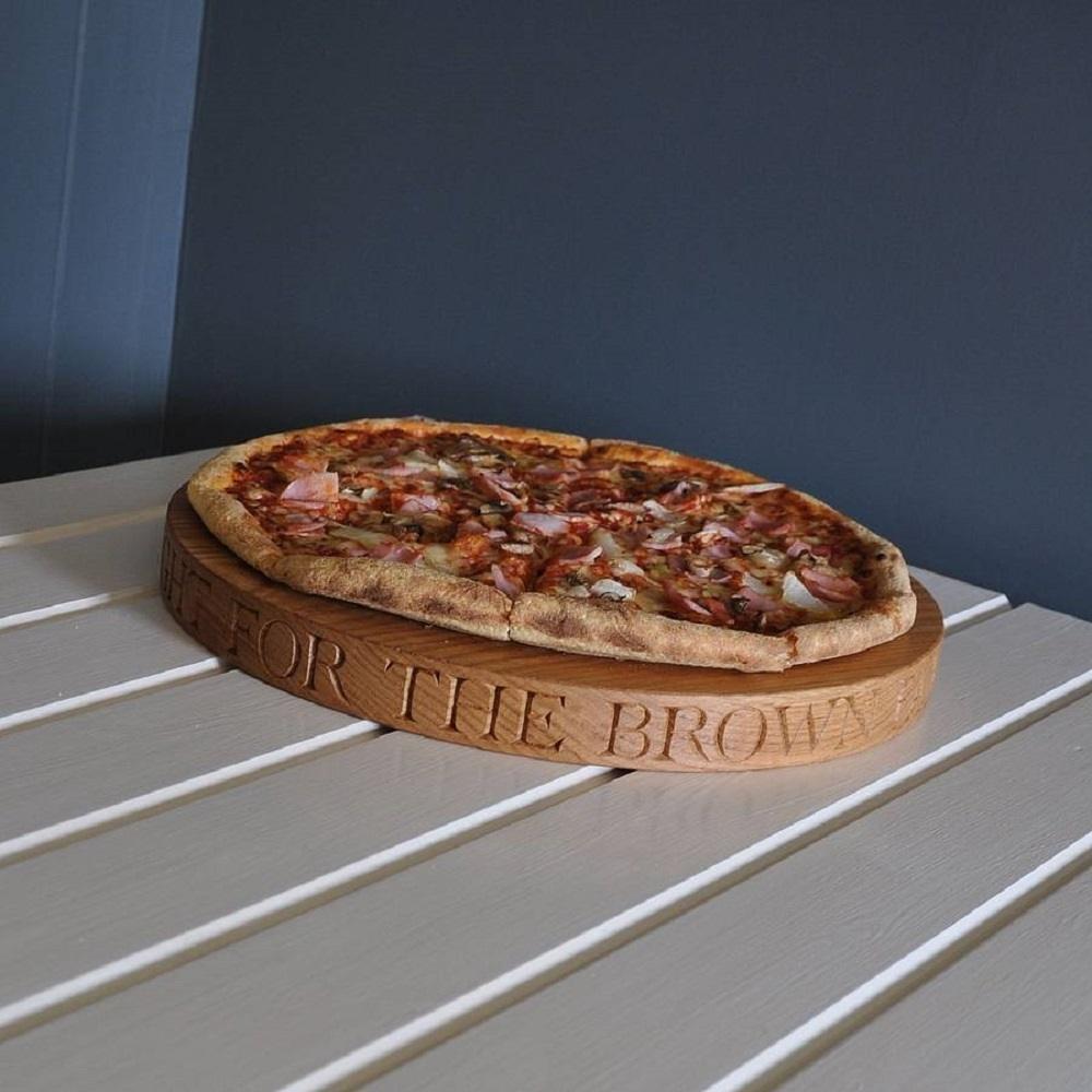Solid Oak Pizza Board