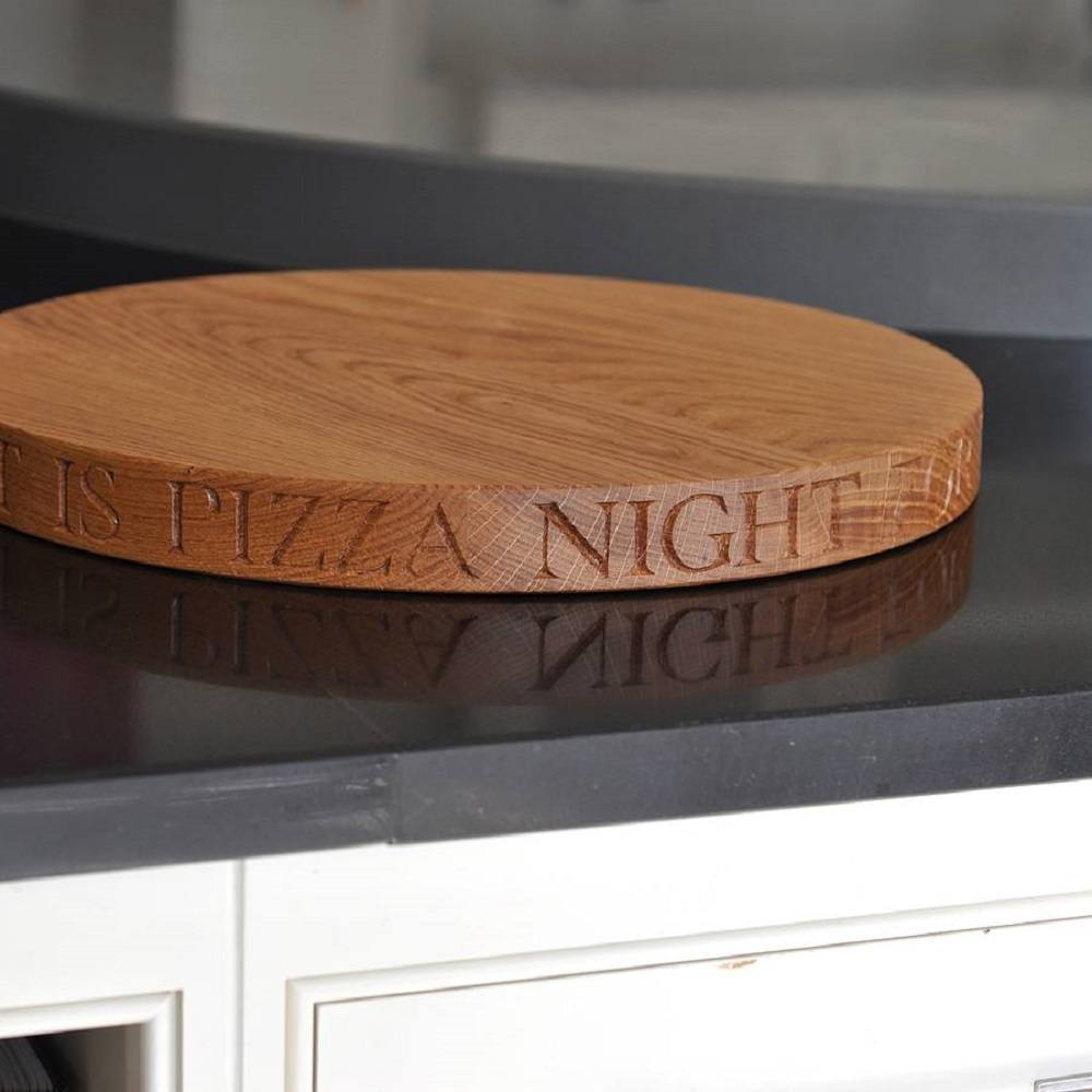 Solid Oak Pizza Board