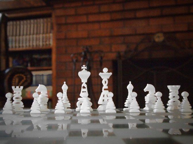 Typographical Chess Set