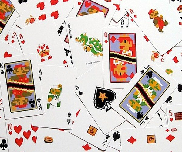 8-Bit Super Mario Playing Cards
