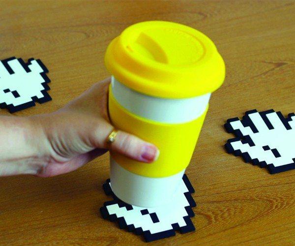 8-bit Hands Coasters