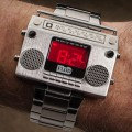 Boombox Wristwatch by Flud