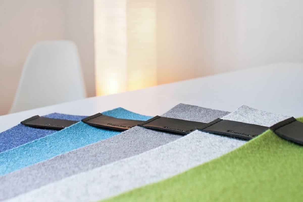 DeskPad Classic – Felt Desktop Pad With Leather Strip
