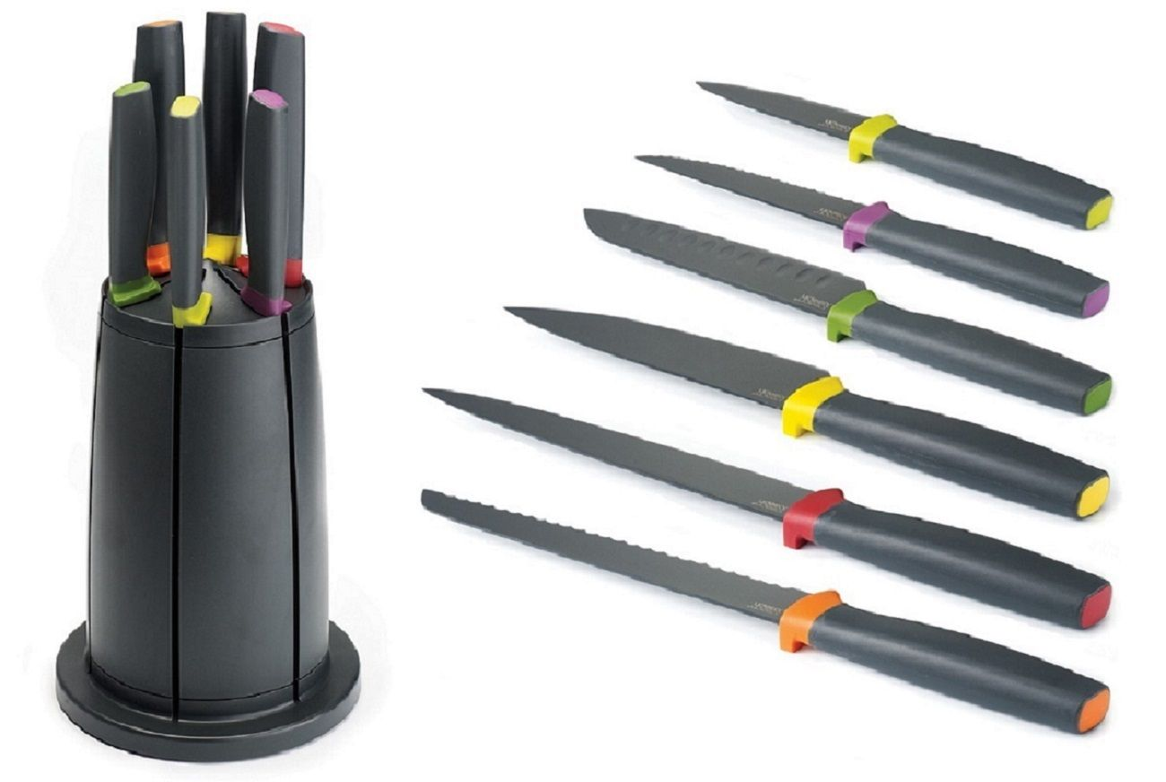 Elevate Knives Carousel Set Rotating Knife Block By