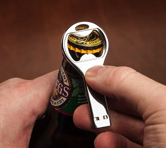 Flash Drive Bottle Opener by i-Ecko