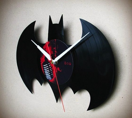 Handmade Batman Vinyl Wall Clock