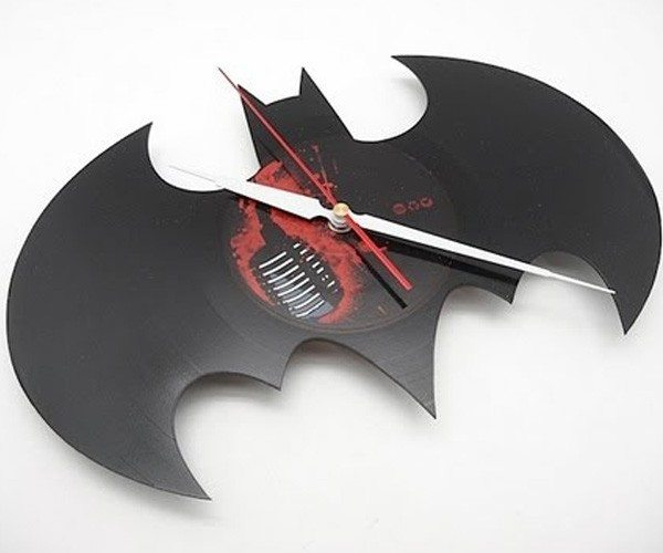 Handmade Batman Vinyl Wall Clock