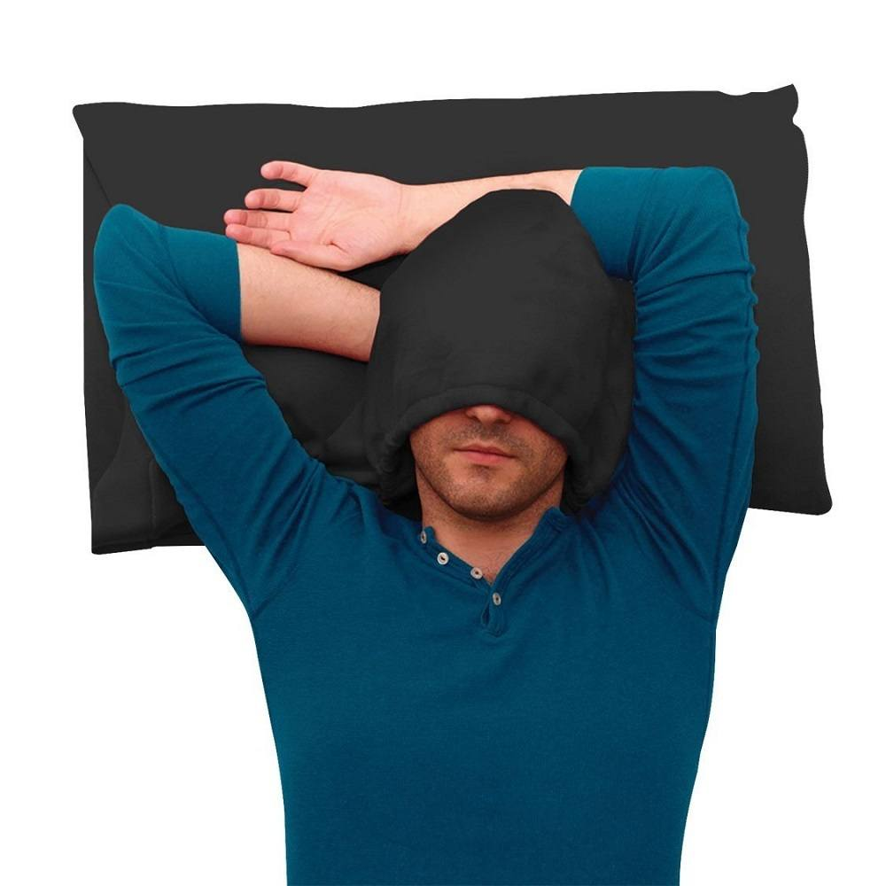 HoodiePillow – Hooded Pillowcase With Pockets For Accessories