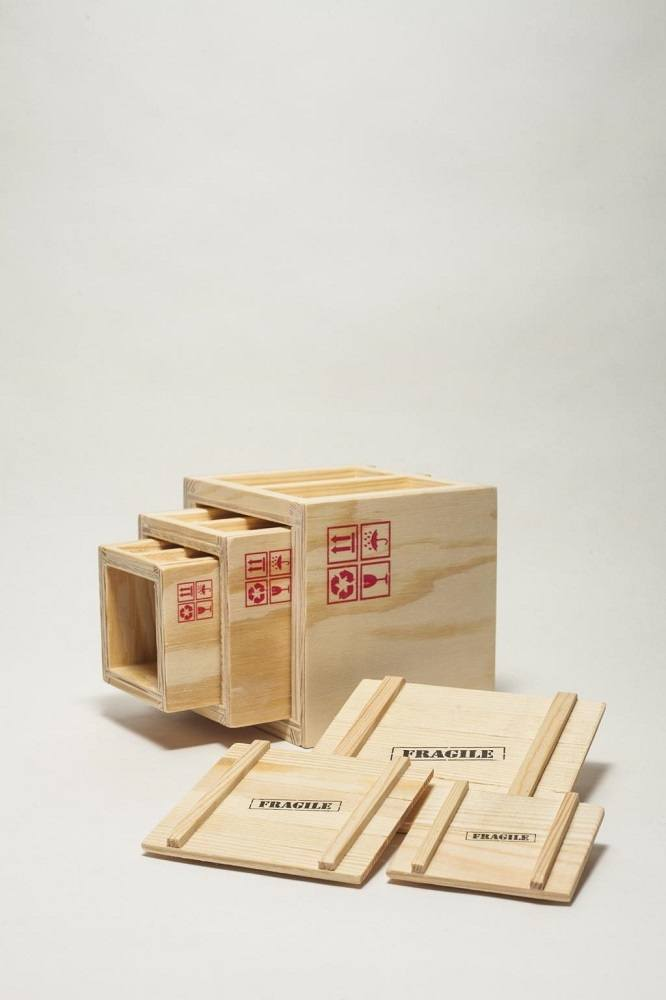 Inbox – Set Of 3 Designer Shipping Boxes