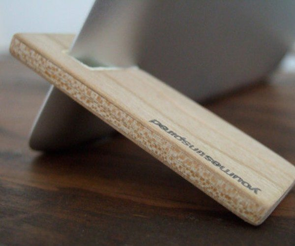 Magnetic Wood iPad Stand by yournestinspired