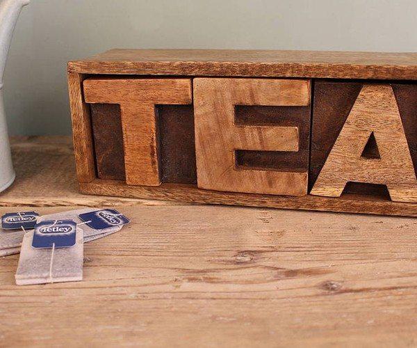 Mango Wood Tea Drawer