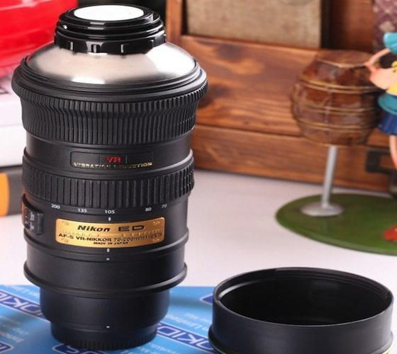 Nikon camera lens coffee tea mug gadget flow Nikon camera lens coffee mug