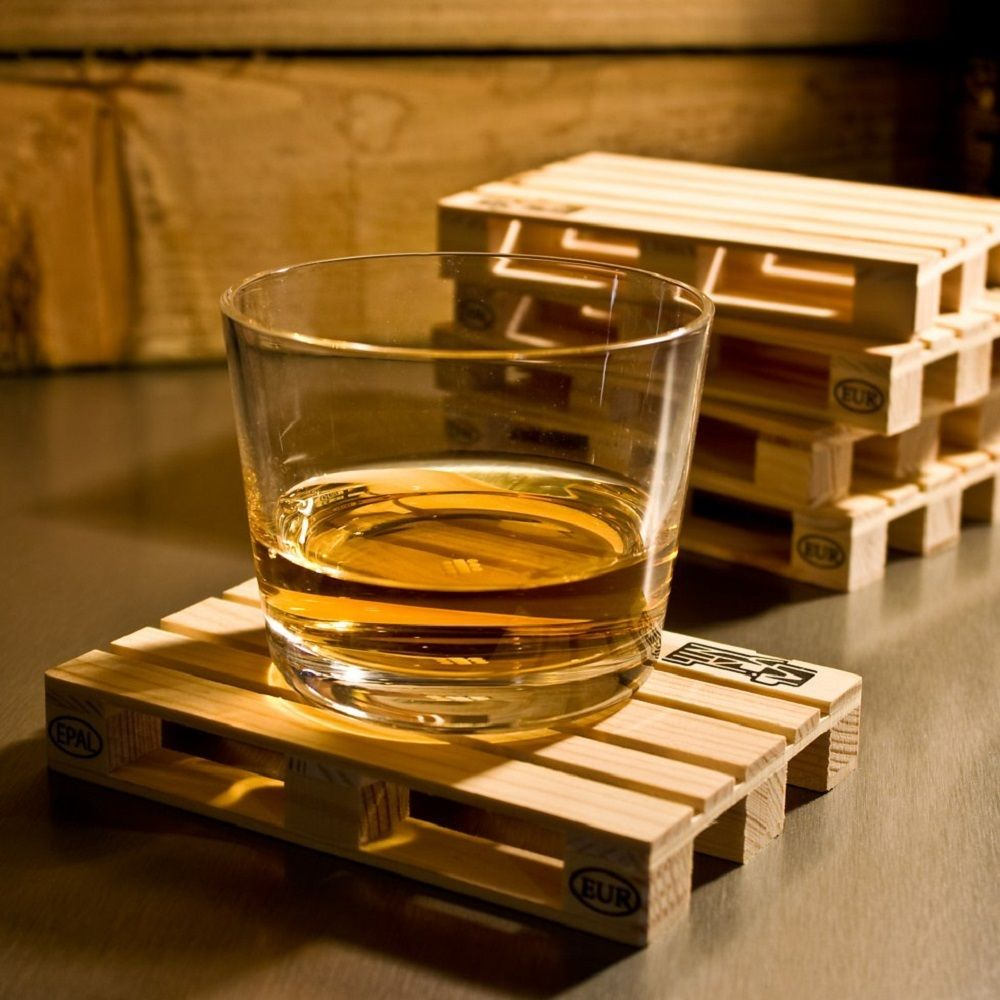 Palette it – Recycled Pine Wood Coasters