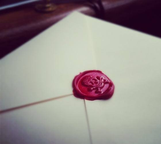 Skull and Crossbones Wax Seal – Brass Handle Stamp