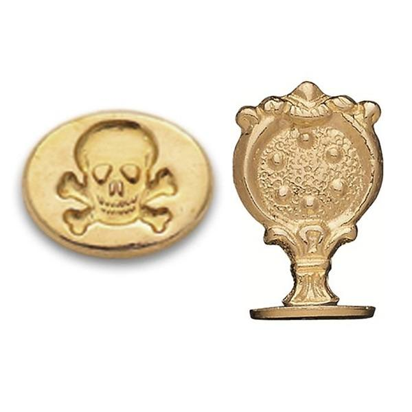 Skull and Crossbones Wax Seal – Brass Handle Stamp
