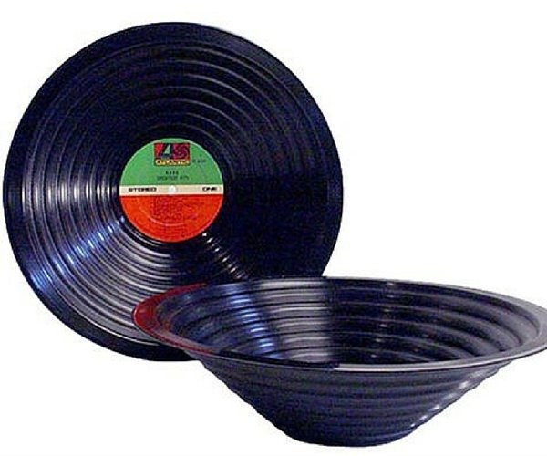 Vinyl Album Record Bowl – Created From Actual 12″ Vinyl Records