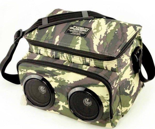 Camo Chillin Mobile Music Speakers & Cooler