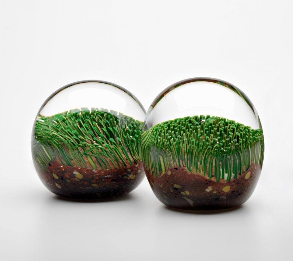 Glass Turf Handblown Paperweight