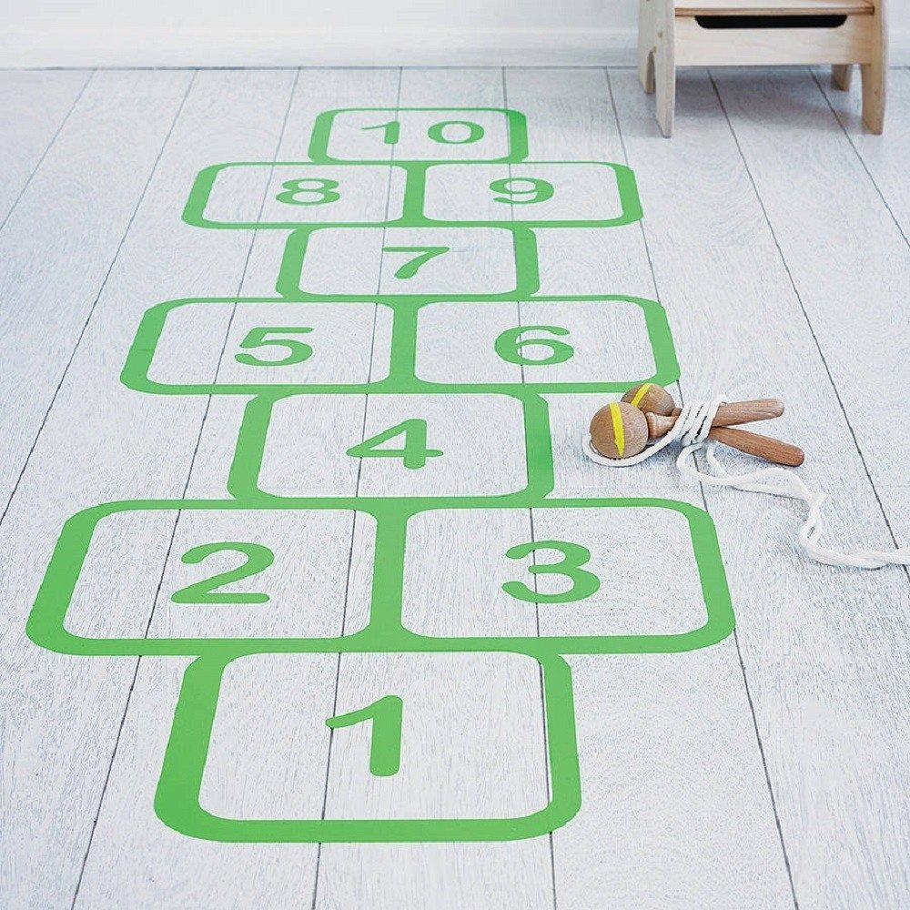 Hopscotch+Vinyl+Floor+Sticker
