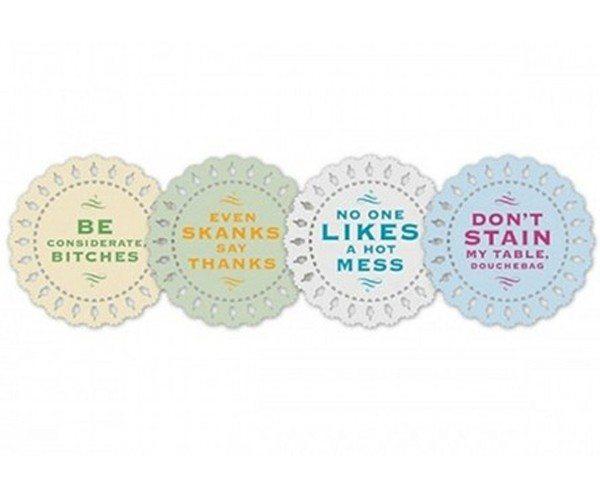 Indelicate Doily Coasters