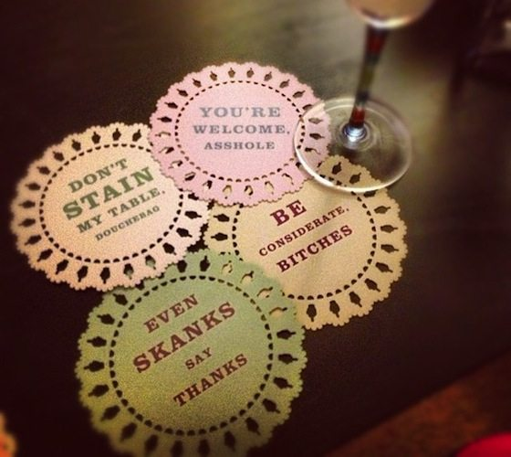 Indelicate Doily Coasters