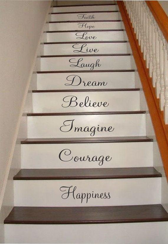 Inspirational Stair Sticker Set