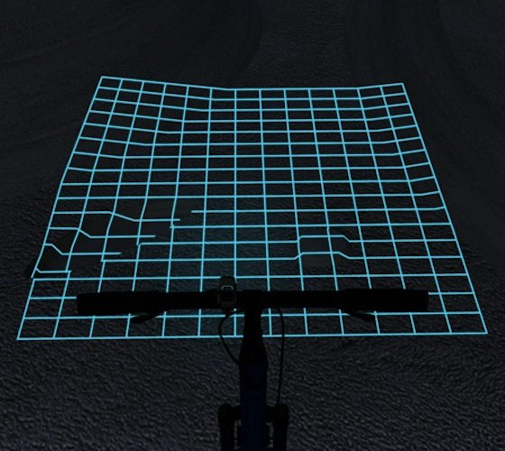 Lumigrids While Cycling