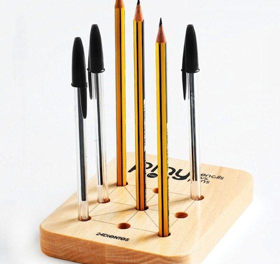 Tic+Tac+Toe+Pencil+Holder