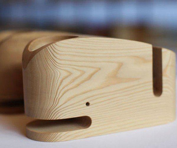 Wood Whale Desktop Organizer
