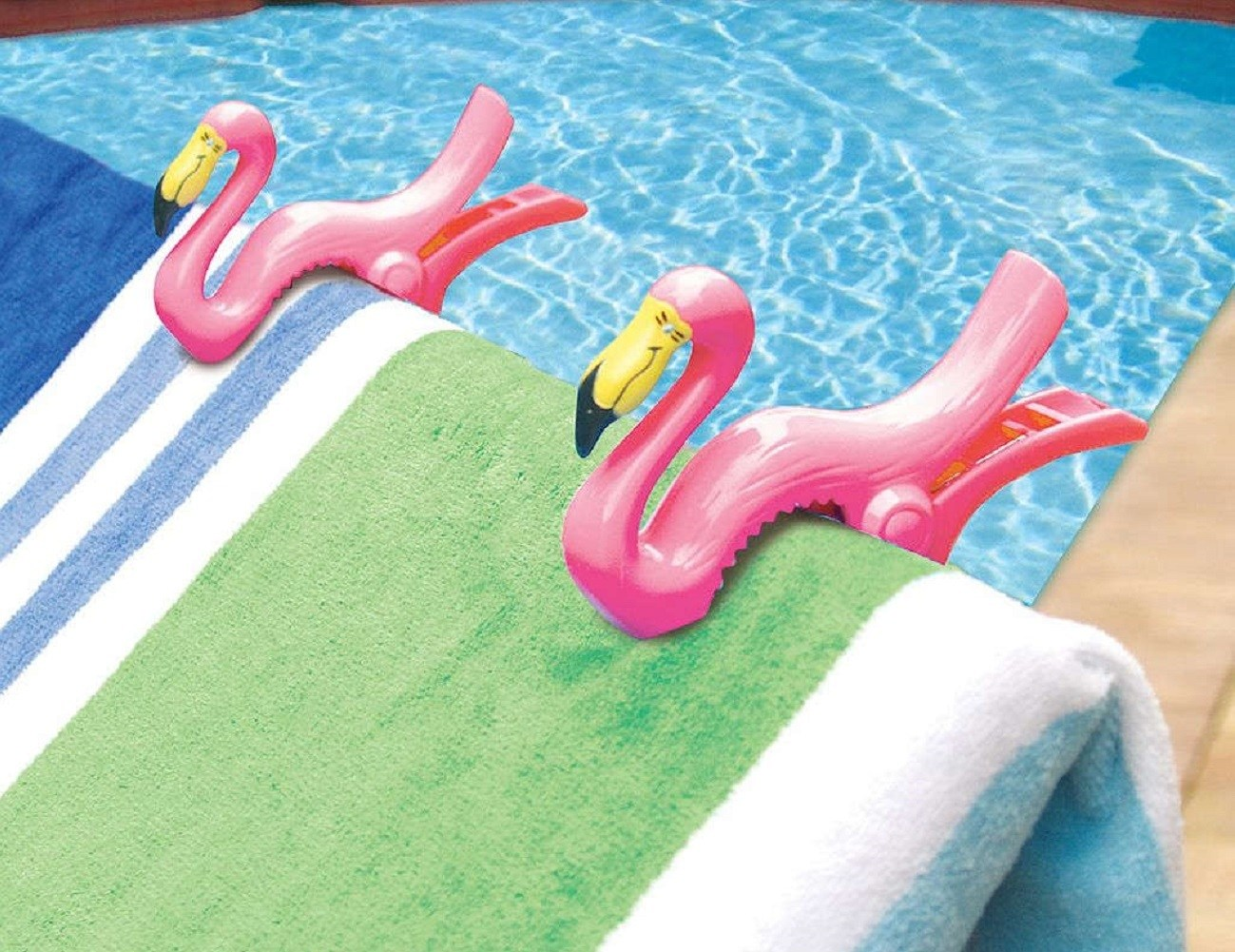 Flamingo+Towel+Clips