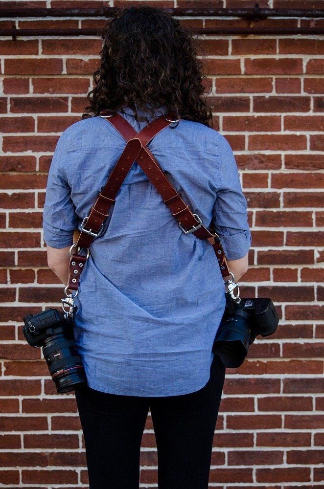 Leather Multi Camera Strap