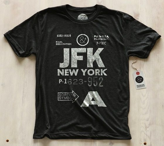 New York JFK Tee by Pilot & Captain