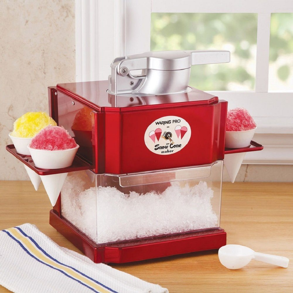 Waring Metallic Red Snow Cone Maker