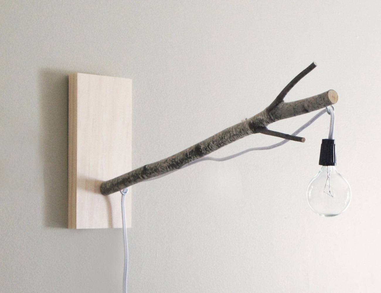 White Birch Branch Lamp