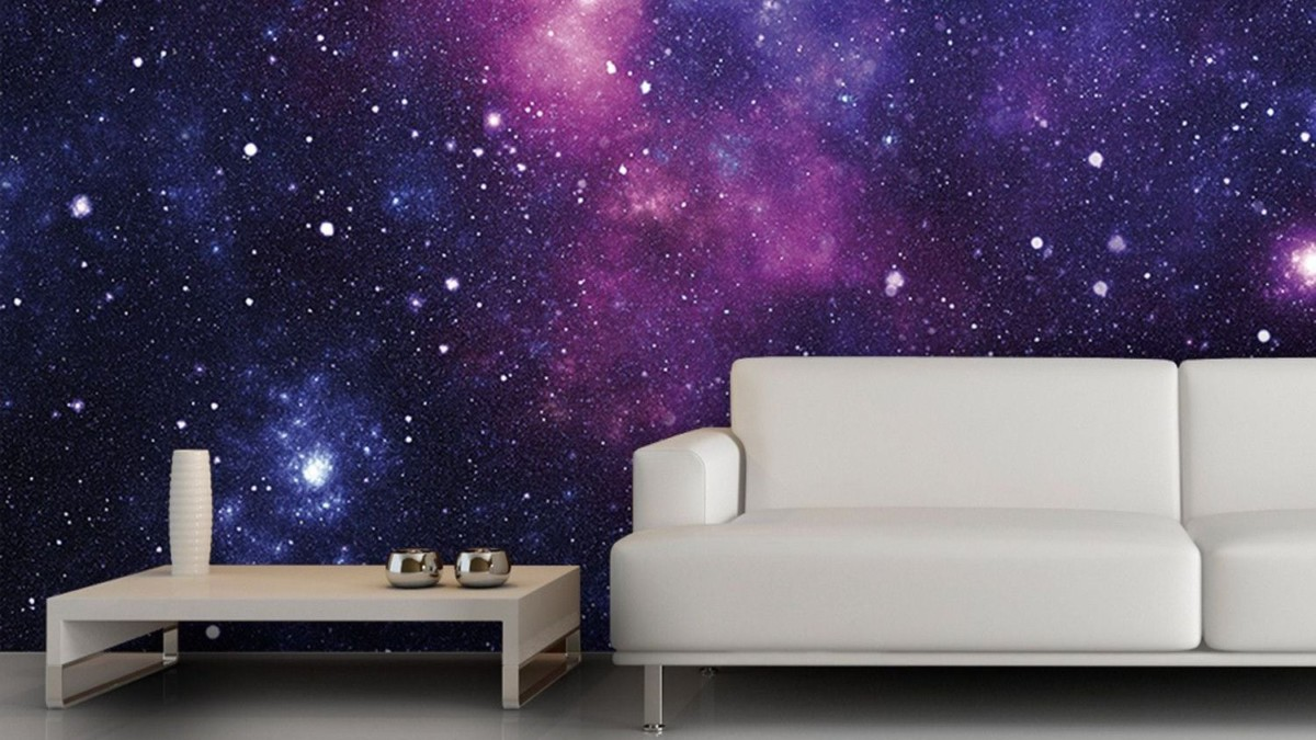 Galaxy Wallpaper Non-Woven Mural comes in custom-fit sizes for any room