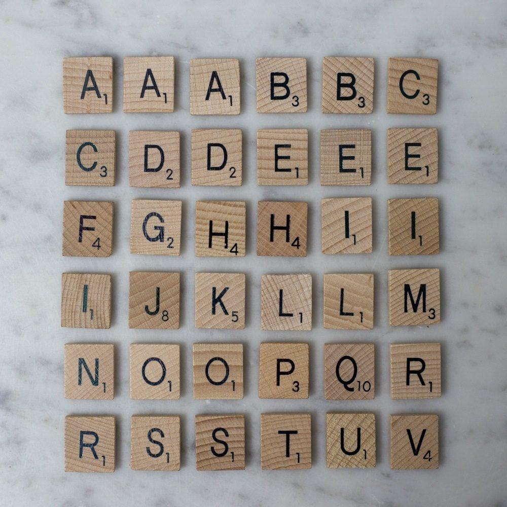 Scrabble Magnetic Refrigerator Tiles