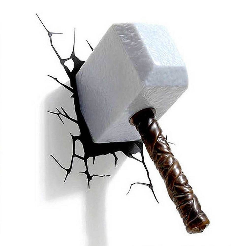 thor hammer 3d nightlight gadget flow