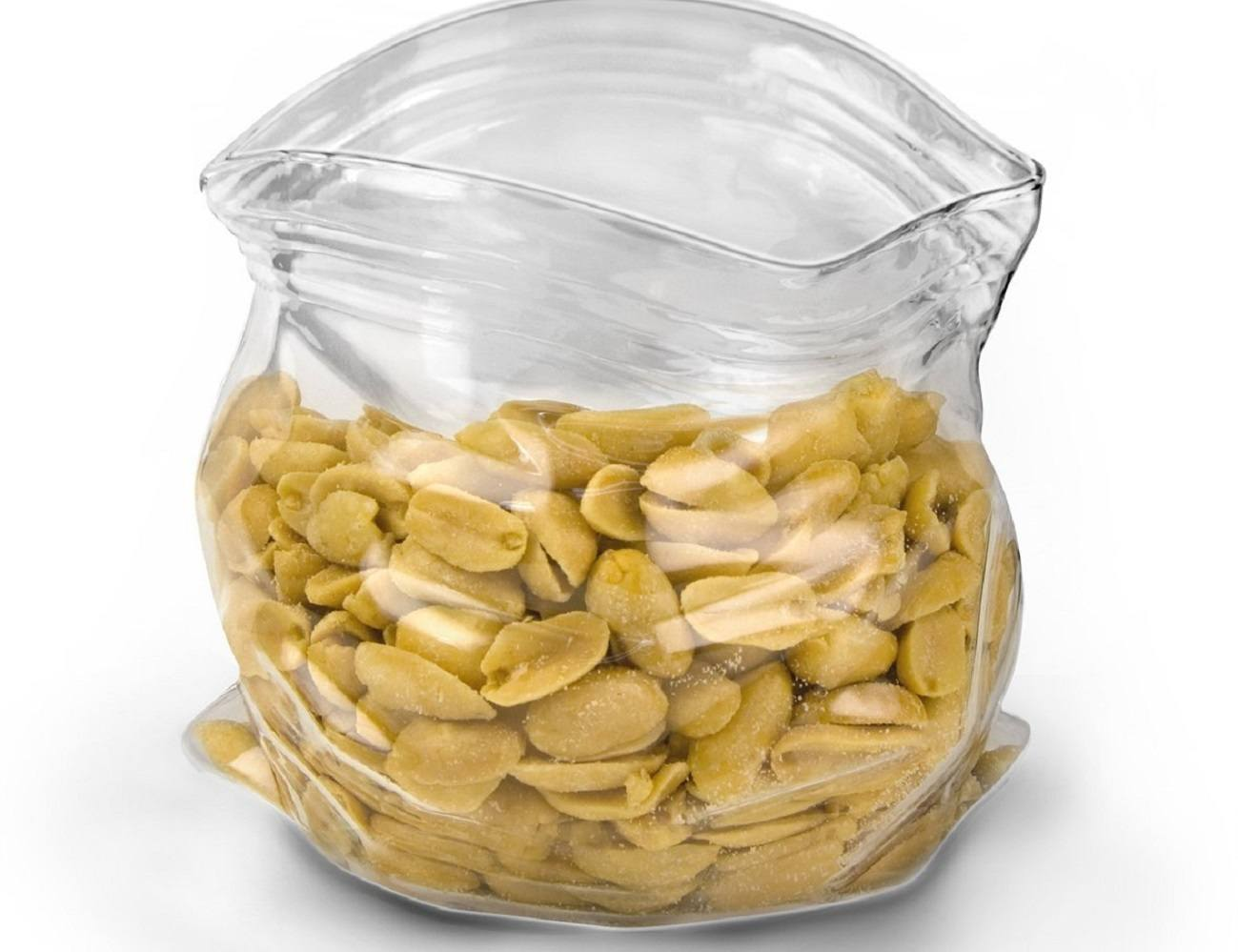 Unzipped Glass Snack Bag