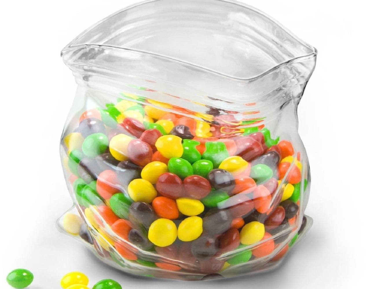 Unzipped Glass Snack Bag